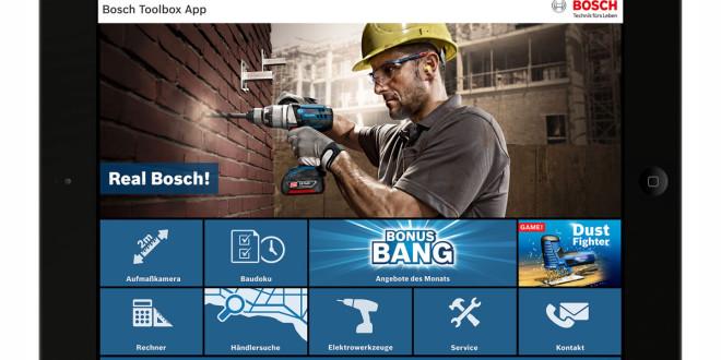 Bosch Toolbox App mit Baudokumentation