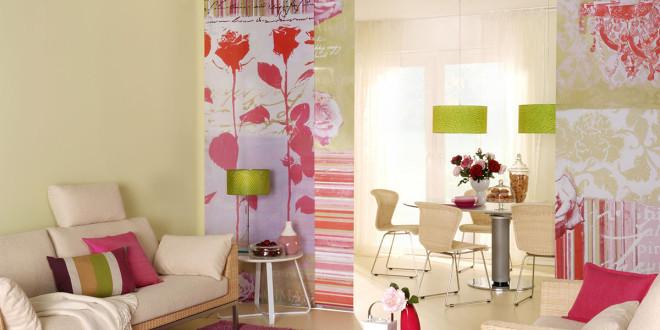 fl chenvorhang als raumteiler eine schicke angelegenheit. Black Bedroom Furniture Sets. Home Design Ideas