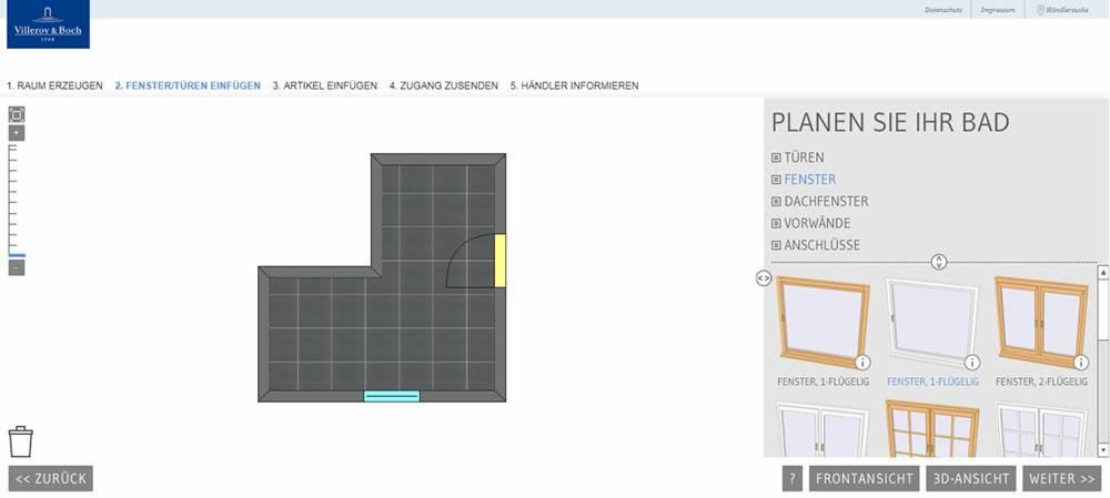 online badplaner von villeroy boch. Black Bedroom Furniture Sets. Home Design Ideas