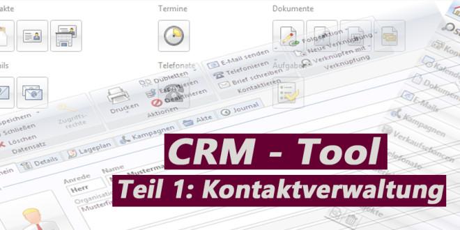 CRM Tool CAS PIA – Teil 1 Kontakte anlegen