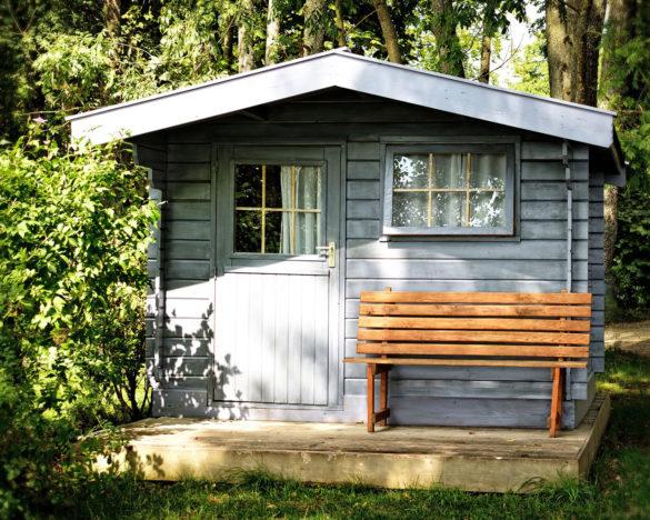 Holz für das Gartenhaus